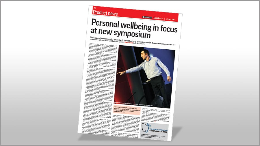 Dentistry - Personal wellbeing in focus Poster