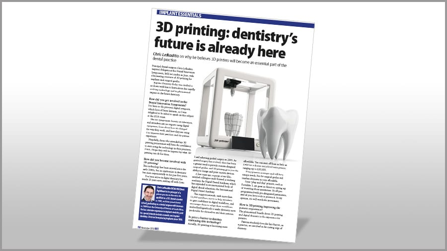 Implant Dentistry Today - 3D printing dentistry Poster